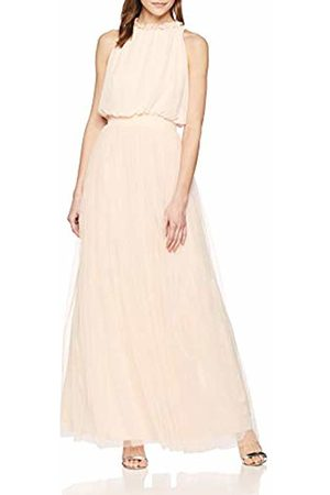 Little Mistress Women's's Samantha Nude Maxi Dress with Frill 001
