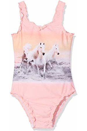 Sanetta Girl's Swimsuit Swimming Costume, ( Neon)
