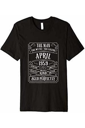 Mens 60th Birthday April T Shirt 1959 Gift Age 60 Men Grandad Dad