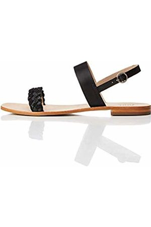 FIND Two Band Slingback Leather Open-Toe Sandals, )