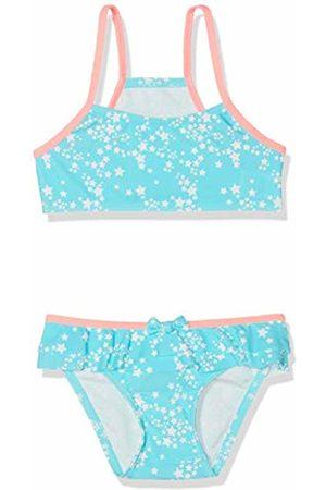 Sanetta Girl's Bikini Swimwear Set, Turquoise (Caribic)