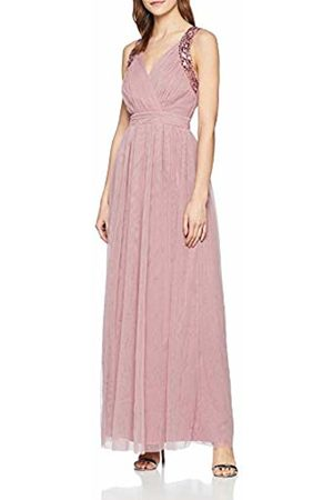 Little Mistress Women's Chandra Blush Sequin Trim Maxi Dress (Dusty 001)
