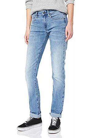 G-Star Women's 3301 Deconstructed Mid Waist Straight Jeans