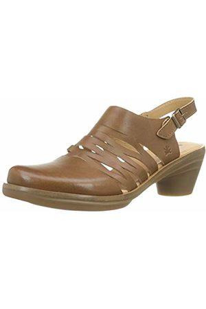 El Naturalista Women's N5353 Vaquetilla Caramel/Aqua Sling Back Sandals