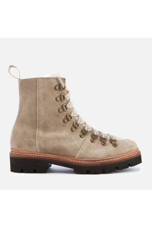 GRENSON Women Lace-up Boots - Women's Nanette Suede Hiking Lace Up Boots