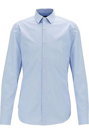 HUGO BOSS Slim-fit shirt in Italian cotton poplin