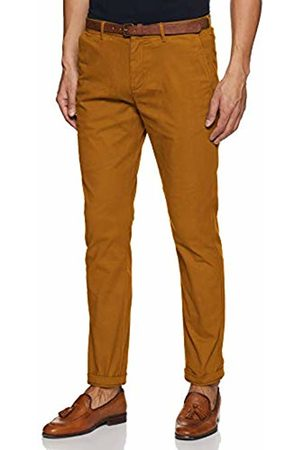 Scotch&Soda Men's AMS Blauw Stuart Chino in Peached Twill with Belt Trouser