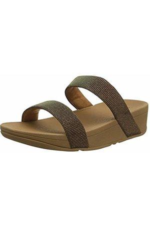 e487f3a71 FitFlop Women s Lottie Slide - Holiday Glitz Open Toe Sandals (Bronze 012)  8 UK
