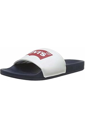Levi's Footwear and Accessories Men's June Batwing Flip Flops, (Navy 17)