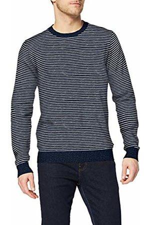 Izod Men's 12GG Striped Crew Neck Sweater Jumper