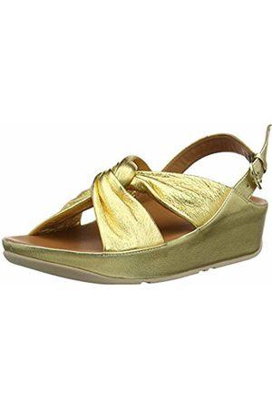 FitFlop Women's Ruche Twist Grace Sandal-Leather Open Toe (Artisan 667)