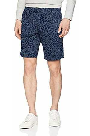 Benetton Men's's Bermuda Short (Stampa Blu Scuro/Medio/Chiaro 70h)