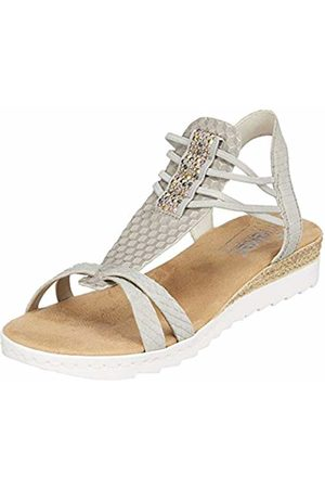 Rieker Women's 63029-42 Closed Toe Sandals Nebel-Silber/Grau 42 5 UK