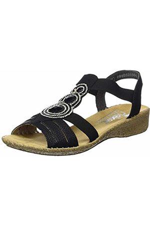 Rieker Women's 61659-00 Closed Toe Sandals