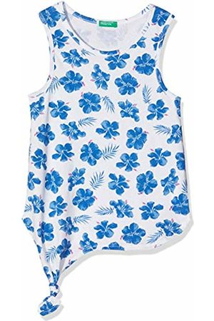 Benetton Girl's Tank-top (All/Over Bianco/Blu A) A