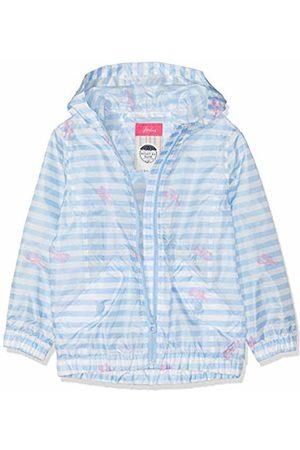 Joules Girl's Golightly Short Rain Jacket, ( Lobster Stripe Pwbllbsstr)