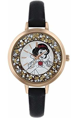 Disney Womens Analogue Classic Quartz Watch with Leather Strap PN5045