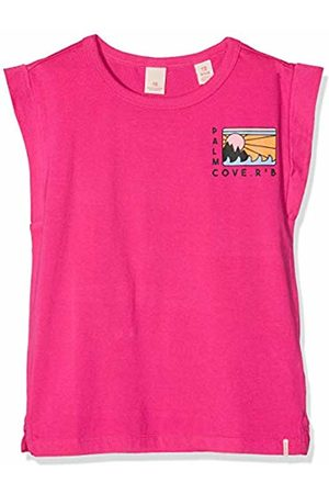 Scotch&Soda R´Belle Girl's Boxy Fit Short Sleeve Tee with Placed Artworks Sports Tank Top