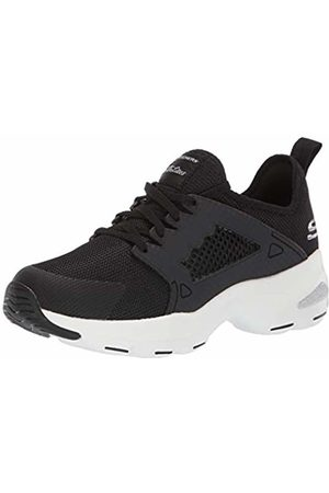 Skechers Women's's D'Lite Ultra-at The Top Trainers, ( BKW)