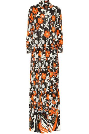 Prada Turtleneck floral maxi dress