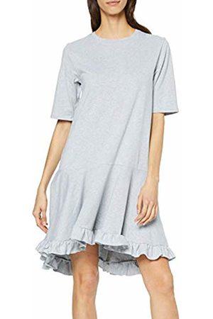 Lost Ink Women's T Shirt Dress with Ruffle Hem Marl 0016