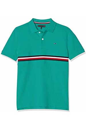 Tommy Hilfiger Boy's Flag Insert Polo S/s Shirt, (Dynasty 303)