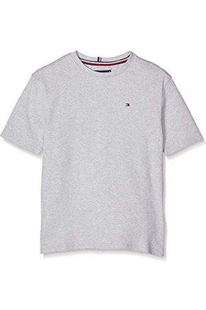 Tommy Hilfiger Boy's Boxy Back Print Tee S/s T-Shirt, ( Heather 004)