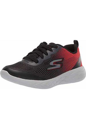 Skechers Boys' Go Run 600-Haddox Trainers, ( BKRD)