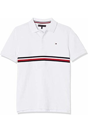 Tommy Hilfiger Boy's Flag Insert Polo S/s Shirt, (Bright 123)