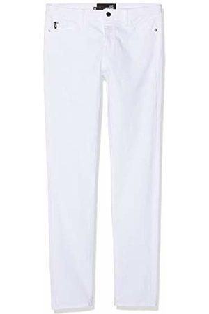 Moschino Women's Heart Shaped Back Pocket Skinny Trouser (Optical A)