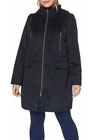 Ulla Popken Women's Plus Size Zip Up Hooded Coat Navy 16/18 717695 70-42+