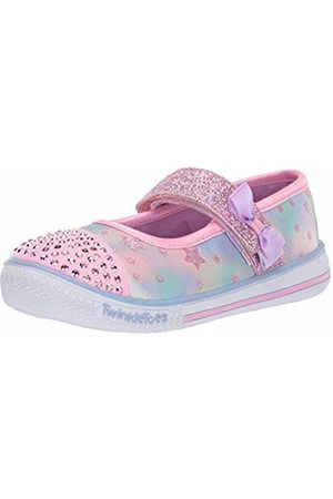 Skechers Girls' Twinkle Play-Starry Sparks Closed Toe Ballet Flats, ( Multi Pkmt)