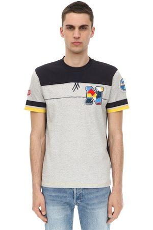 Napapijri Men T-shirts - Logo Cotton Jersey T-shirt