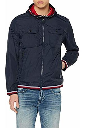 Tommy Hilfiger Men's Reversible Hooded Jacket Raincoat