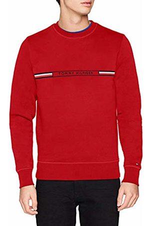 Tommy Hilfiger Men's Tommy Logo Sweatshirt Rot (Haute 611) M