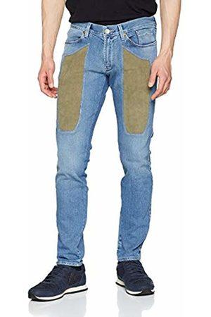 Jeckerson Men's 5pkts Patch Slim + Alcantara Trouser