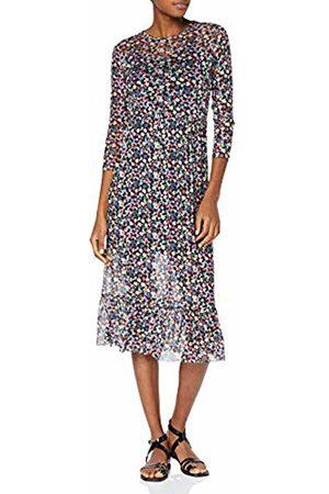New Look Women's Chloe Floral Mesh Tier 6190071 Dress, ( Pattern 9)