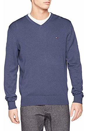 Tommy Hilfiger Men's Cotton Silk V Neck Jumper