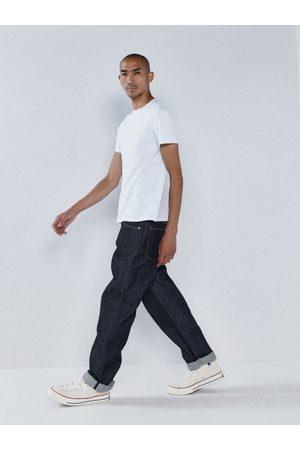 Raey Raw Selvedge Denim Wide-leg Jeans - Mens - Indigo