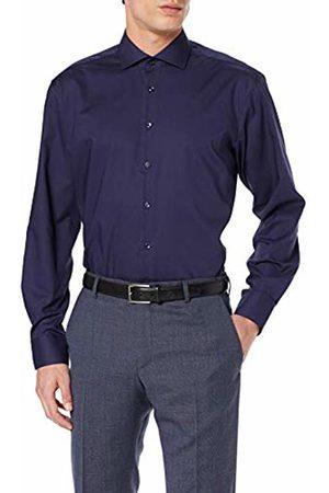 Seidensticker Men's's Comfort Langarm Mit Kent Kragen Bügelfrei Formal Shirt (Dunkelblau 19) 24 (Size: 50)