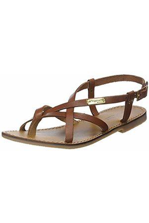 Les Tropéziennes par M Belarbi Women Sandals - Women's CHOUETTE Sling Back Sandals (TAN 782) 3.5 UK