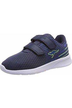 KangaROOS Kids' Kf Act V Low-Top Sneakers (Dk Navy/Lime 4054)