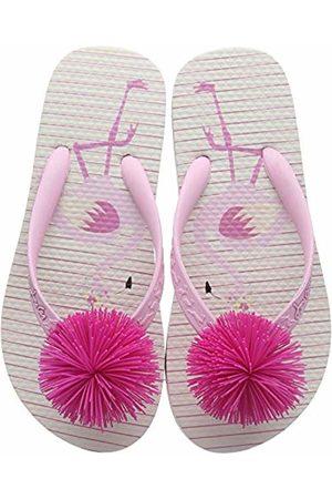 Joules Girls Flip Flops Flamingo Stripe Pkflams