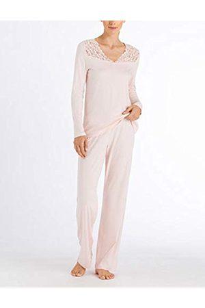 Hanro Women's Moments Nw Pyjama 1/1 Arm Set, (Crystal 071334)