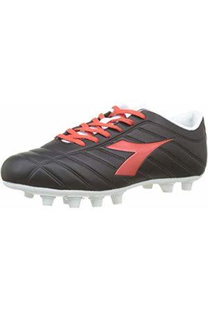 Diadora Men's PICHICHI MDPU Football Boots, (Nero/Rosso Granatina/Bianco C7878)