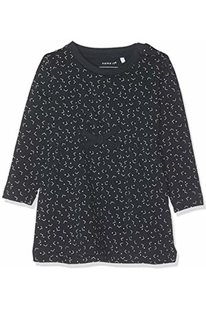 Name it Baby Girls' NBFDELUCIOUS LS Tunic NOOS Dress, Blau Dark Sapphire