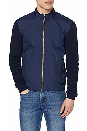 Hackett Hackett Men's Knit Padded Jacket (Navy 595) X-Large