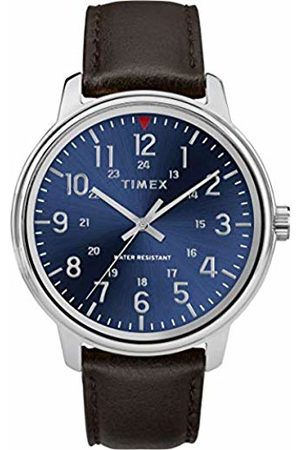 Timex Mens Analogue Classic Quartz Watch with Leather Strap TW2R85400