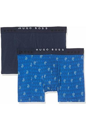 HUGO BOSS Men's's Boxer Brief 2p Print Shorts, (Bright 435)