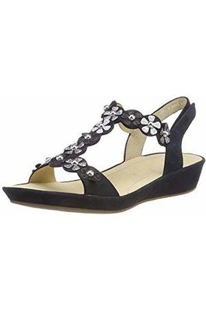 ARA Women's's Capri 1228009 T-Bar Sandals (Blau/Iron